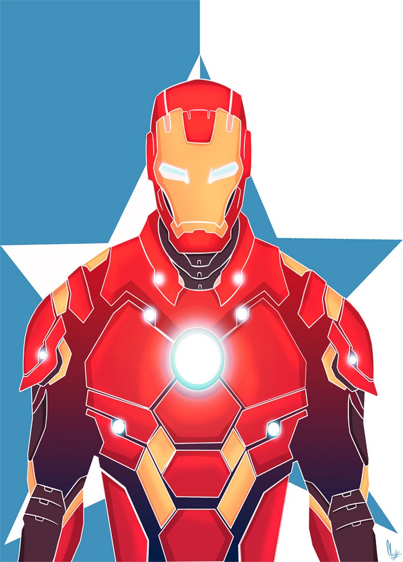 Iron Man por Claymayer